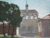 Звонница Софийского собора, масляная пастель, 64х49, 2017