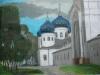 Свято-Юрьев мужской монастырь. Великий Новгород, масляная пастель, 64х49, 2017