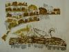 утки,цветная ксилография, 2013 год