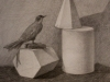 Наливайко Екатерина, натюрморт с геометрическими телами, карандаш, 42,5х44, 2016г
