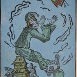 птица дементьева нн.цв.ксилография,53х38.2013год