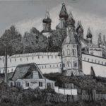 Стальмакова Софья, гелевая ручка, белила, 13 лет, 2016 г.